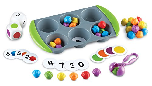 Learning Resources Mini Muffin Match Up Counting Toy Set, Fine Motor, 76Piece, Ages 3+
