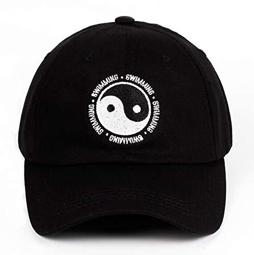 Dad Hat Swimming Gossip Embroidered Hat Snapback Baseball Cap for Men Women Black