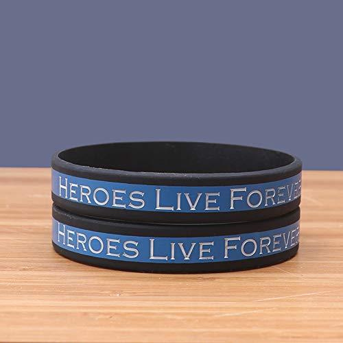 MAGA 1 Hero Live Forever Silicone Bracelets Trendy Silicone Wristband Classsic Jerwerly 10 Years Custom Bracelets