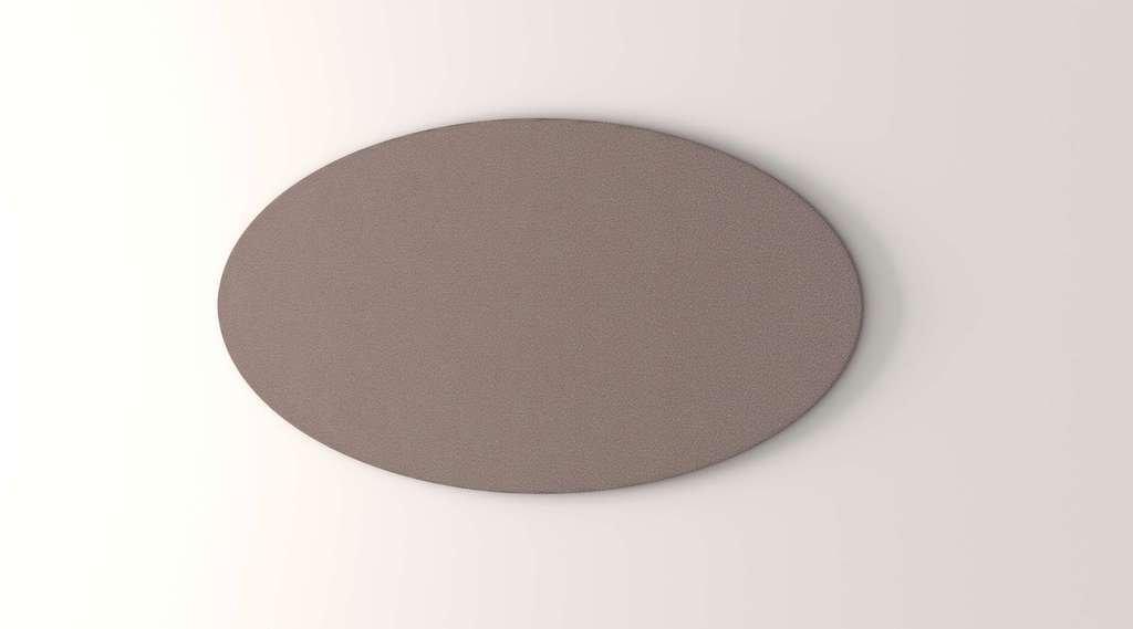 Obex 30X60-TB-O-LA 30'' x 60'' Obex Oval Tackboard, Latte, 30'' x 60''