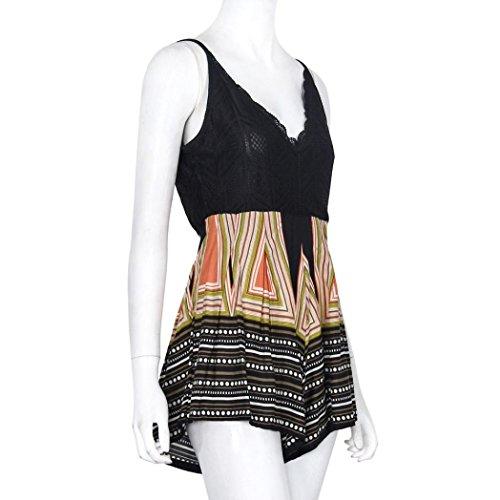 Mode d'été, Amlaiworld Femmes V Neck Lace Mini Combi combinaison été Shorts