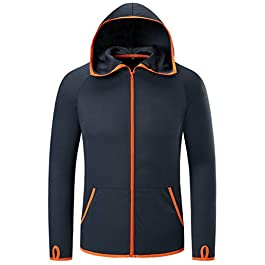 MAGCOMSEN Men's Sun Protection Jacket Water Resistant Hoodie for Running Hiking
