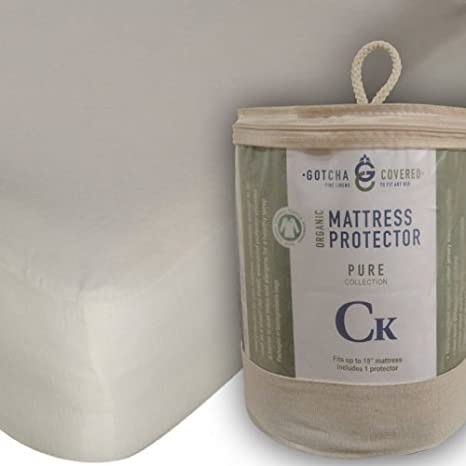 Twin Gotcha Covered COMINHKR060701 Pure Collection Organic Mattress Protector