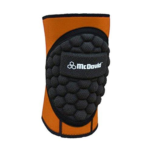 McDavid Standard Handball Knee pad [Orange] - Large (Pads Orange Knee Mcdavid)