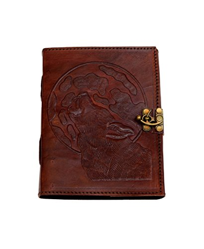 The Night of the Wolf - Vintage Buffalo leather journal NEW PREMIUM PAPER Cotton paper Notebook Handmade India