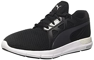 PUMA Men's Dynamo Blk-Asphalt Shoes, Puma Black-Asphalt, 7.5 US