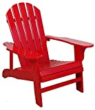 Leigh Country Red Adirondack Chair for Patio, Deck or Yard