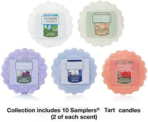 10 Official Yankee Candle Wax Melt Tarts Assorted Fragrances In Hearts Gift Box