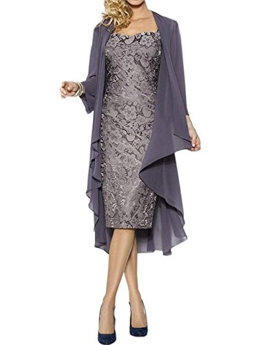 Buy mother of the bride short dress with jacket - 1