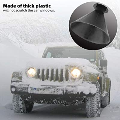 HERCHR Car Windshield Ice Scraper Tool, Cone Shaped Outdoor Round Funnel Remove Snow Kit (black): Automotive