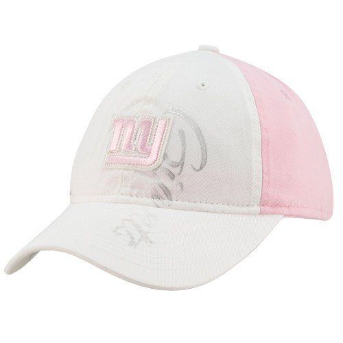 (Reebok New York Giants Ladies White-Pink Slouch Adjustable)