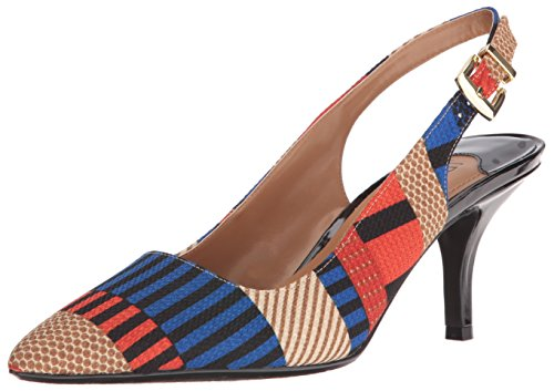 J.renee Womens Laceyann Dress Pump Navy / Rosso / Marrone Chiaro