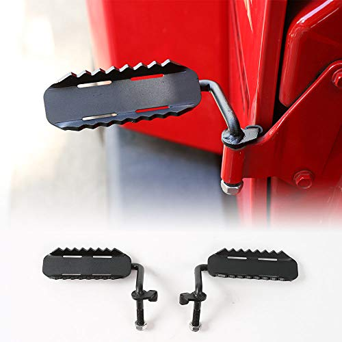 JeCar Front Foot Pegs Metal Rest Kick Panel for 2007-2018Jeep Wrangler JK & Unlimited (Sport Style 1 Pair) - Sport 2dr Step