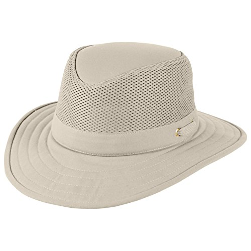 Tilley TM10B Flat Top Cotton Mesh Hat - Khaki w/ Olive Underbrim - 7 3/4 by Tilley