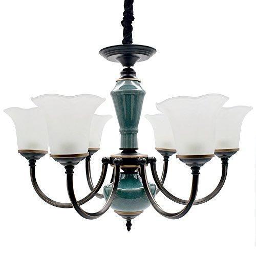 - PAMA ComY-738467 6-Lights Chandelier Pendant Ceiling Lighting Fixtures,Ceramics