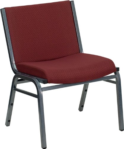 (Flash Furniture HERCULES Series Big & Tall 1000 lb. Rated Burgundy Fabric Stack Chair)