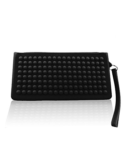 Black and Women's Silicone with zipper RumbaTime Clutch in strap Iqx0OwTPT4