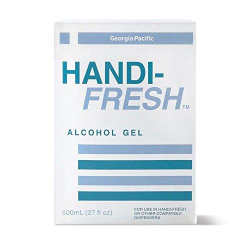 4 Handi-Fresh Alcohol Gel No Rinse Sanitizer, 800 mL (Pack of 4) ()