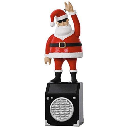 Hallmark Keepsake 2017 - Nothin' But a Good Time Rockin' Santa Solar Motion Musical Ornament