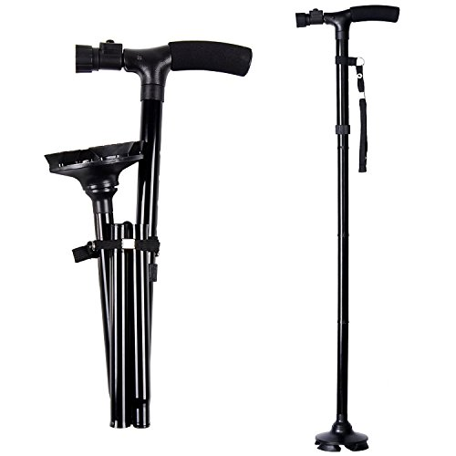 Ohuhu Folding Walking Cane with LED Light