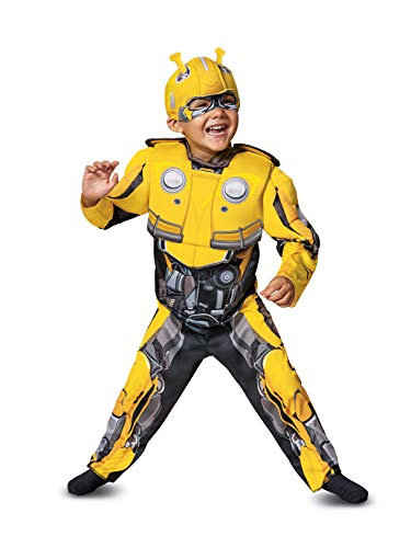 Disguise Bumblebee Toddler Muscle Child Costume, Yellow, Medium/(3T-4T) ()