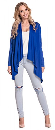 Giacca Cascata Maglina Royal Lunga Blu Blazer Empire Donna Glamour Maniche 320 PxBUSS