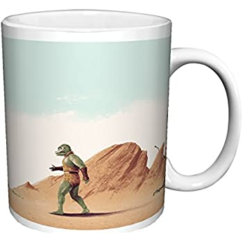 Star Trek (Matt Ferguson Arena) Captain Kirk Gorn Fight William Shatner Sci-Fi TV Television Show Ceramic Gift Coffee (Tea, Cocoa) 11 Oz. Mug
