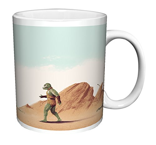 Star Trek (Matt Ferguson Arena) Captain Kirk Gorn Fight William Shatner Sci-Fi TV Television Show Ceramic Gift Coffee (Tea, Cocoa) 11 Oz. Mug