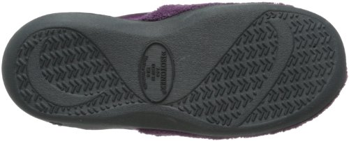 Isotoner Womens Microterry PillowStep Satin Cuff Clog Slippers, Ultraviolet, 8.5-9 B(M) US