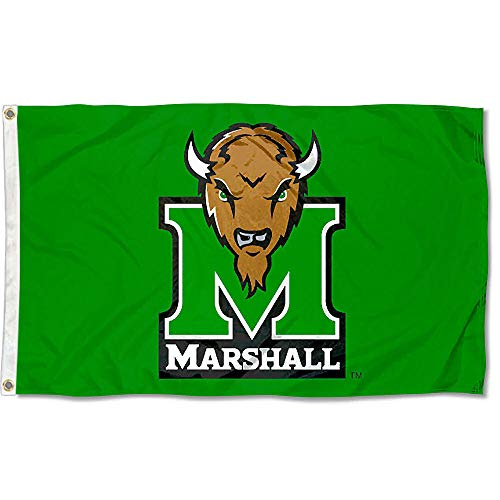 Marshall Herd Kelly Green University Large College Flag