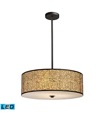 Pendants 5 Light LED With Aged Bronze Finish 24 inch 67.5 Watts - World of Lamp
