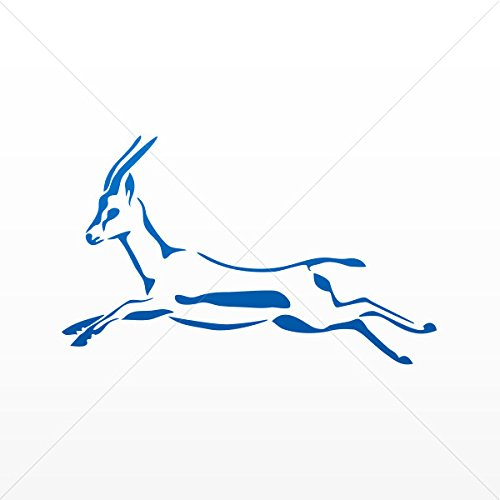 Stickers Decal Running Deer Decoration Motorbike Bicycle Vehicle ATV Blue Dark (14 X 8.55 In)
