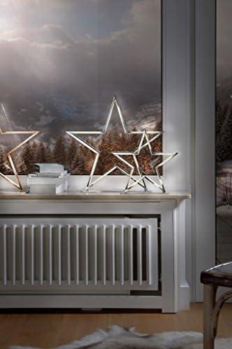Sompex Deko- / Tischleuchte Lucy LED Weihnachtsstern, chrom - Höhe 33cm