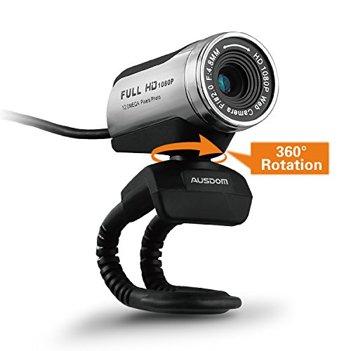 Ausdom Full HD 1080p Webcam, USB Webcam with Microphone,, used for sale  Delivered anywhere in USA