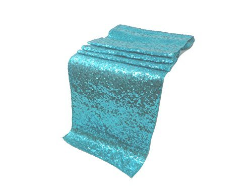 ELINA'S PACK OF1Wedding 13 x 108 inch Sequin Table Runner Wedding Banquet Decoration (1, DIAMOND -