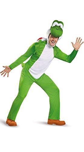 Yoshi Halloween Costumes (Disguise Men's Yoshi Deluxe Adult Costume, Green, XX-Large)