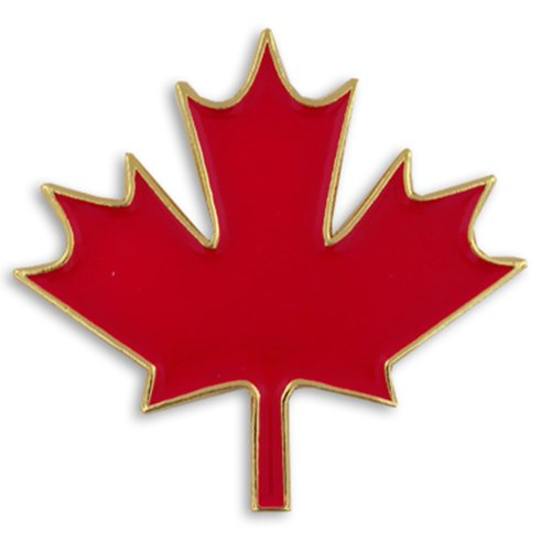 [PinMart's Canadian Red Maple Leaf Canada Enamel Lapel Pin 1
