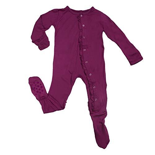 Kickee Pants Basic Pants - KicKee Pants Basic Ruffle Footie, Orchid 6-9M