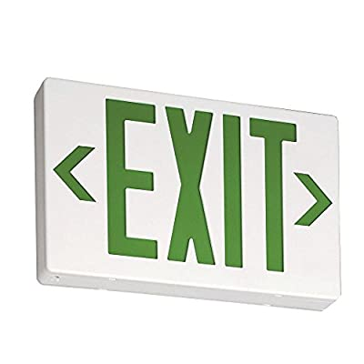 Lithonia Lighting EXG LED EL M6 Contractor Select Green Thermoplastic LED Emergency Exit Sign with Backup Battery