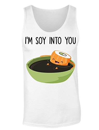 I'm Soy Into You Sushi Bathing In A Bowl Of Soy Sauce T-shirt senza maniche per Donne Shirt
