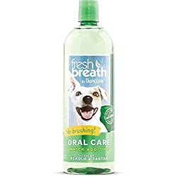 Your dog's dental care is an important component of their overall health. Simply one capful of TropiClean Fresh Breath Oral Care Water Additive to your dog's water bowl provides up to 12 hours of fresh breath and helps defend against plaque a...