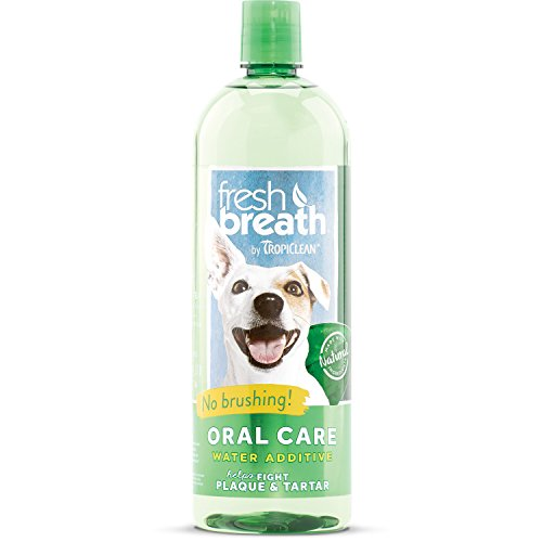 Fresh Breath by TropiClean Oral Care Water Additive for Pets, 33.8oz, Made in ()