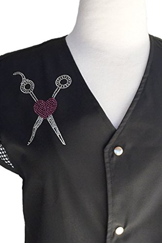 Ladybird Line Shear & Pink Heart Rhinestone Transfer Iron On for T-shirt, Aprons and ()