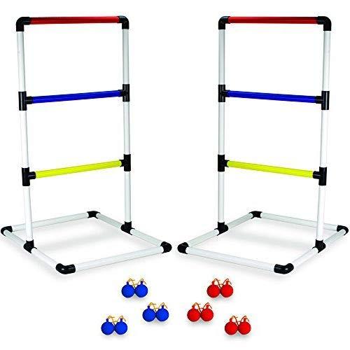 Aromzen Indoor/Outdoor Ladderball Set with Carrying Case and GAnchors