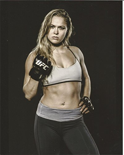 Ronda Rousey workout clothes & gloves 8 x 10 inches Photo