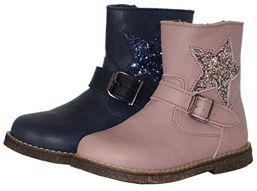 clic! CL-9085 DE modische Stiefeletten Boots für Mädchen Pink (Rosa)