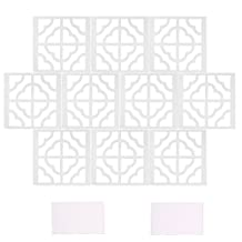 10pcs Mirror Tile Silver Wall Sticker 3D Decal Room Decor Stick on Removable