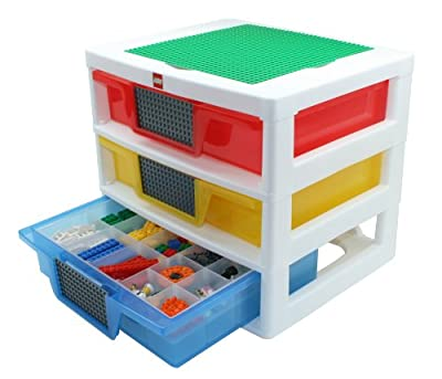Iris Usa Inc Lego 3-drawer Sorting System With 1 Large Lego Building Base Plate And 4 Removable Divider Trays from IRIS USA INC (HOME)