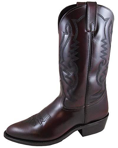 Smoky Mountain Men's Denver Cherry Western Boot Medium Toe Black Cherry 11 D (Smoky Mountain Boots Mens Denver Leather Western Boot)