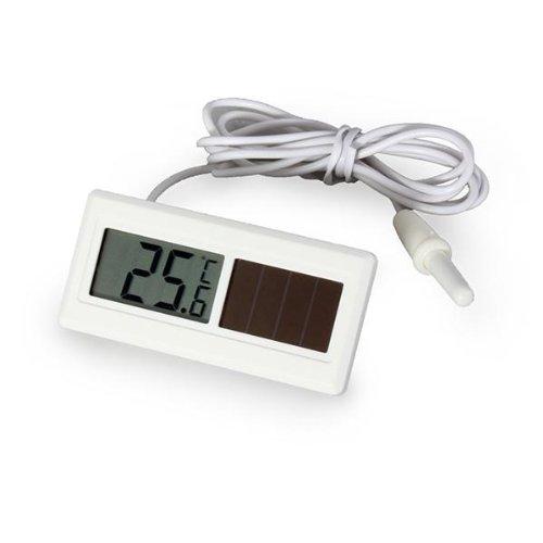 Solar Digital Innen Thermometer Kombigerät Temperatur Messgerät